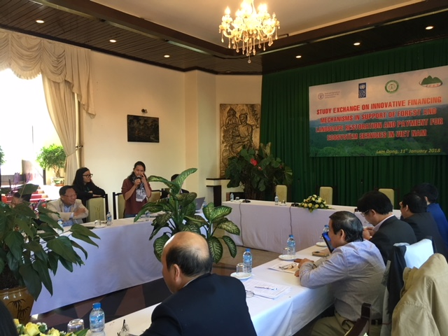 "International workshop ""Study Exchange on Innovative Financing Mechanisms in Support of Forest and Landscape Restoration and Payment for Ecosystem Services in Viet Nam"" in Lam Dong"